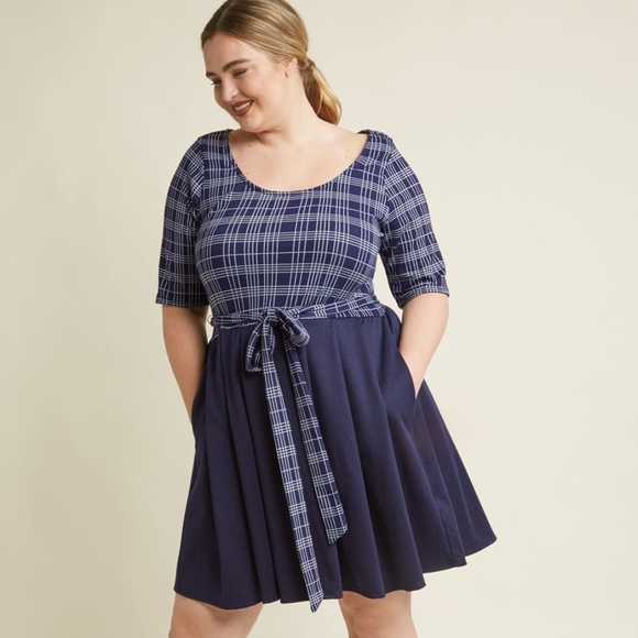 Fervour Dresses & Skirts - Modcloth In the Very Near Twofer A-Line Dress